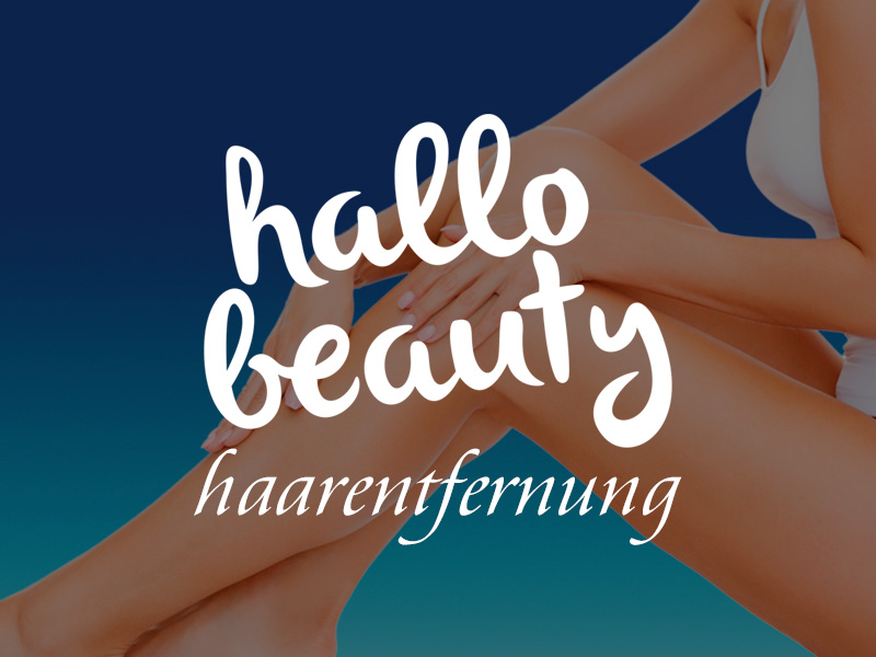 Haarentfernung. hallo beauty